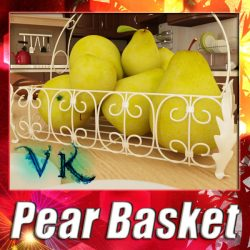 3D Model Pears in Metal Basket ( 143.16KB jpg by VKModels )