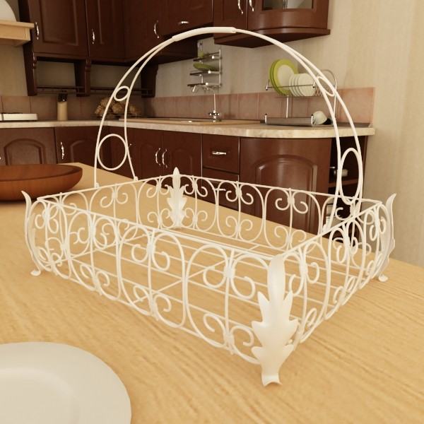 3D Model Pears in Metal Basket ( 80.99KB jpg by VKModels )