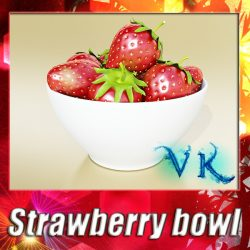 3D Model Photorealistic Strawberries in Bowl ( 121.13KB jpg by VKModels )