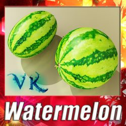 3D Model Watermelon High Res Texture ( 150.07KB jpg by VKModels )