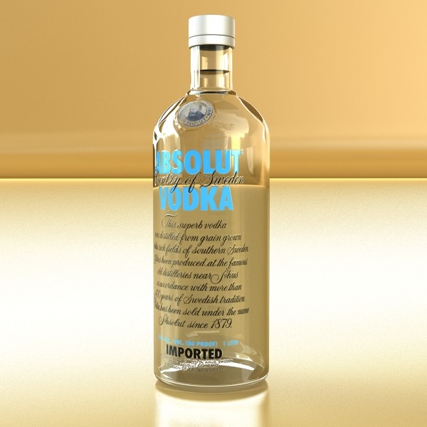 model vodka 3d absolut 3ds max fbx obj 136031