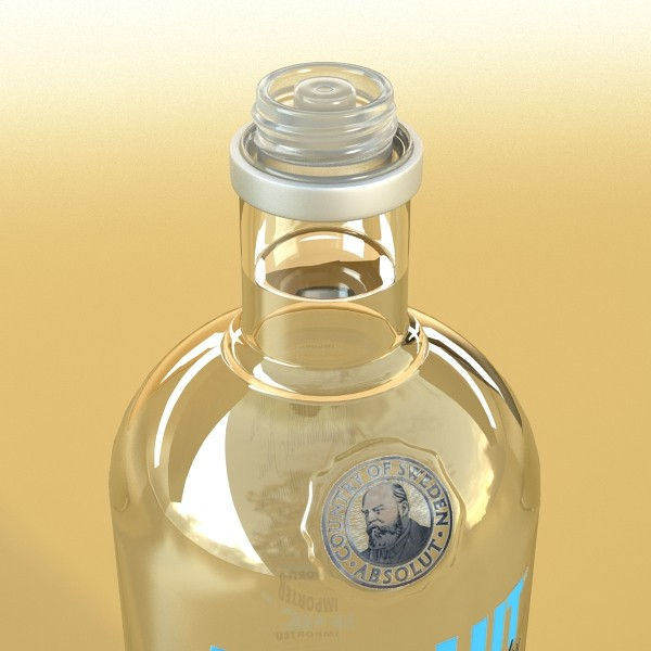 model vodka 3d absolut 3ds max fbx obj 136033