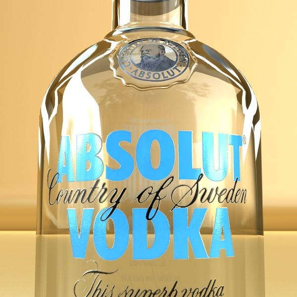 model vodka 3d absolut 3ds max fbx obj 136034