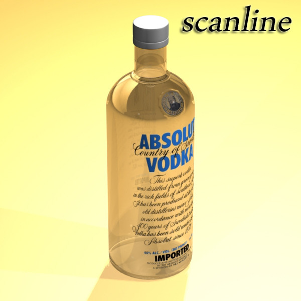 absolut vodka 3d model 3ds max fbx obj 136040
