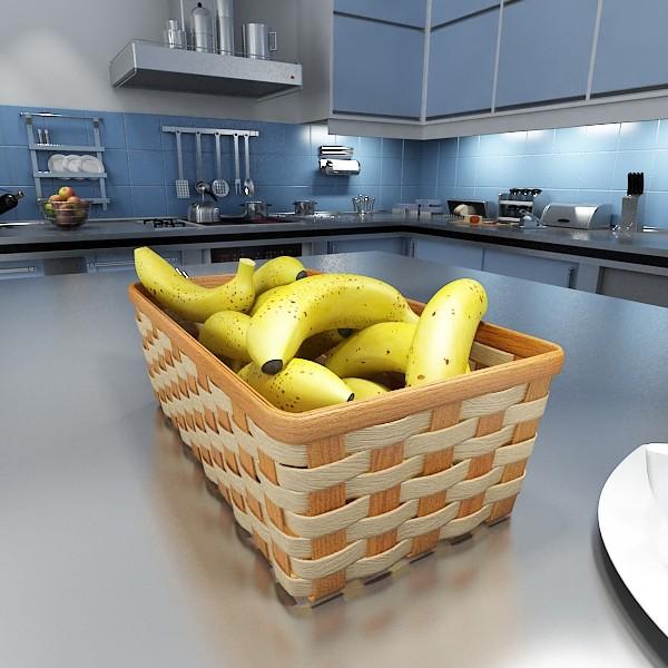 зэгсэн сагс дахь банана 09 3d загвар 3ds max fbx obj 132947