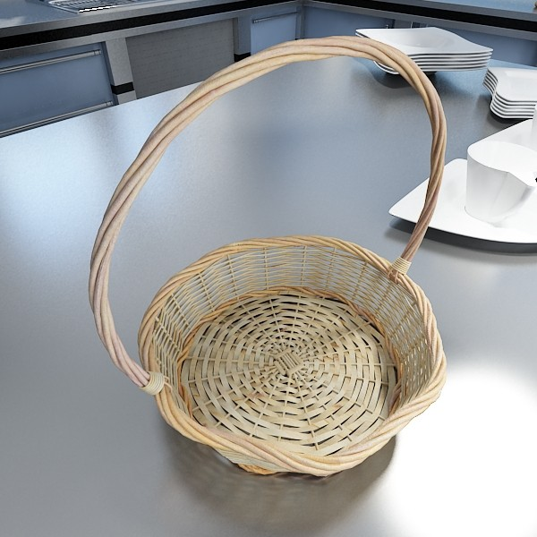 basket and bowls collection 14 items 3d model 3ds max fbx obj 133468