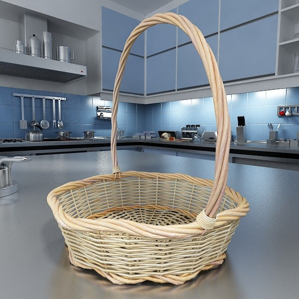 basket and bowls collection 14 items 3d model 3ds max fbx obj 133469