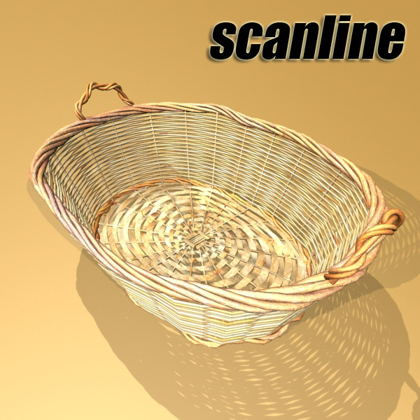 basket and bowls collection 14 items 3d model 3ds max fbx obj 133479