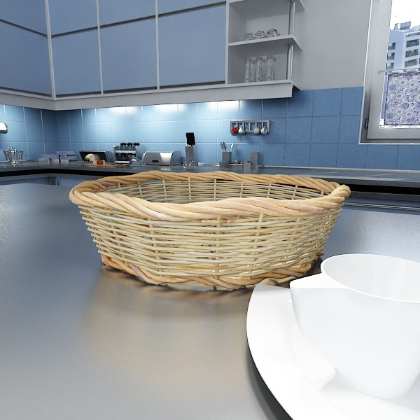basket and bowls collection 14 items 3d model 3ds max fbx obj 133496