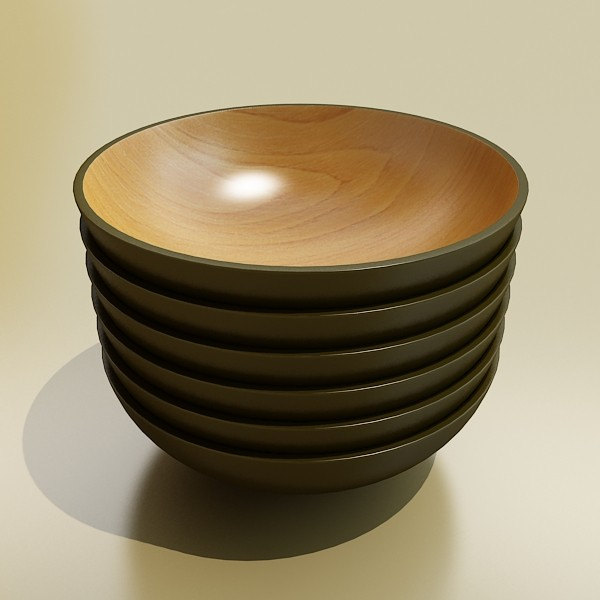 basket and bowls collection 14 items 3d model 3ds max fbx obj 133512
