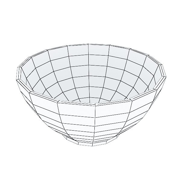 basket and bowls collection 14 items 3d model 3ds max fbx obj 133521