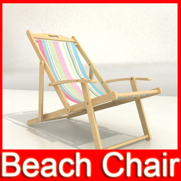 beach chair high detail realistic 3d model 3ds max fbx obj 129776