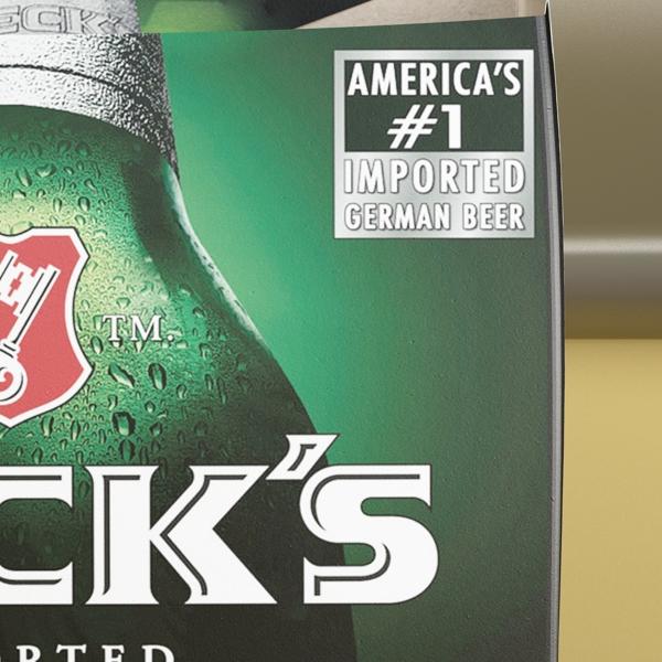 becks 6 bottles cardboard pack 3d model 3ds max fbx obj 142392