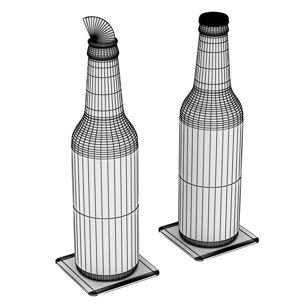 becks 6 bottles cardboard pack 3d model 3ds max fbx obj 142406
