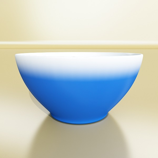 Bowl biru 13 3d model 3ds max fbx obj 133101