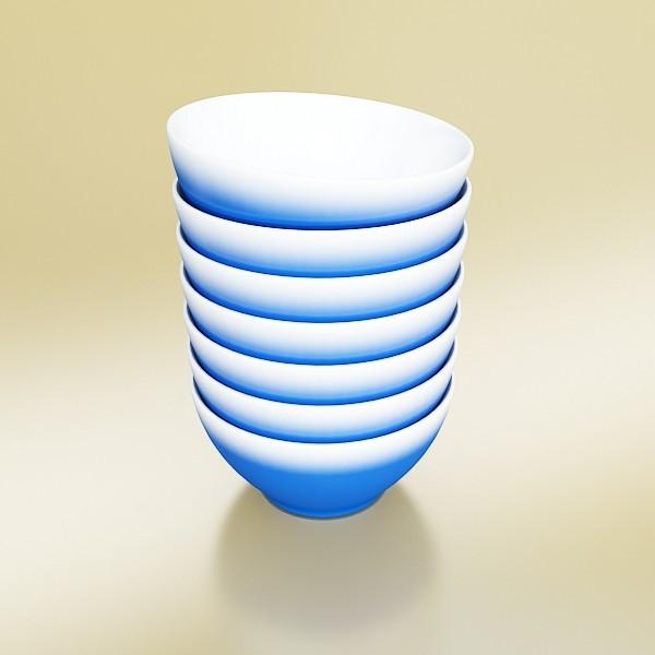 blue bowl 13 3d model 3ds max fbx obj 133103