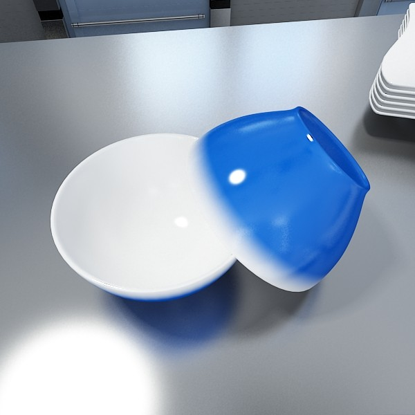 blue bowl 13 3d model 3ds max fbx obj 133105