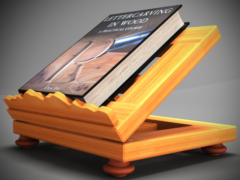 book on lectern 3d model max 147802