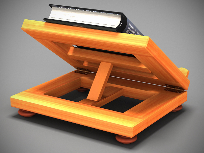 book on lectern 3d model max 147804