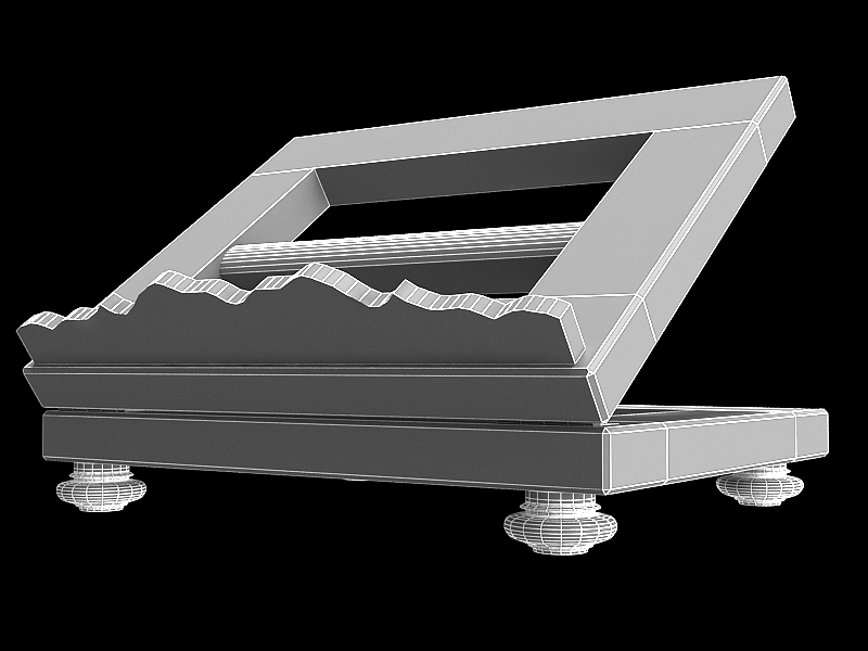 book on lectern 3d model max 147807