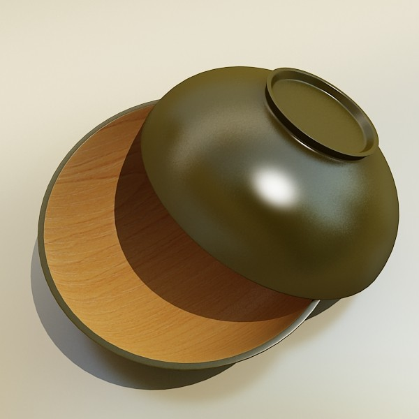 bowl 12 3d model 3ds max fbx obj 133093