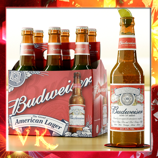 budweiser beer bottle – six cardboard pack 3d model 3ds max fbx obj 142128