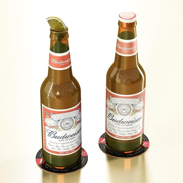 budweiser beer bottle – six cardboard pack 3d model 3ds max fbx obj 142138