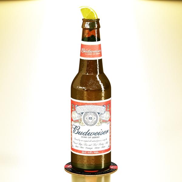 budweiser beer bottle – six cardboard pack 3d model 3ds max fbx obj 142139
