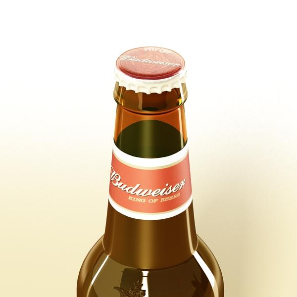 budweiser beer bottle – six cardboard pack 3d model 3ds max fbx obj 142141