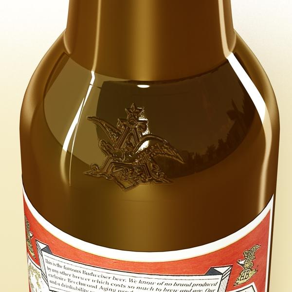 budweiser beer bottle – six cardboard pack 3d model 3ds max fbx obj 142143