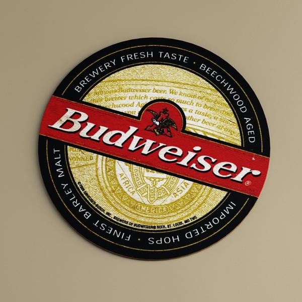 budweiser beer bottle – six cardboard pack 3d model 3ds max fbx obj 142146
