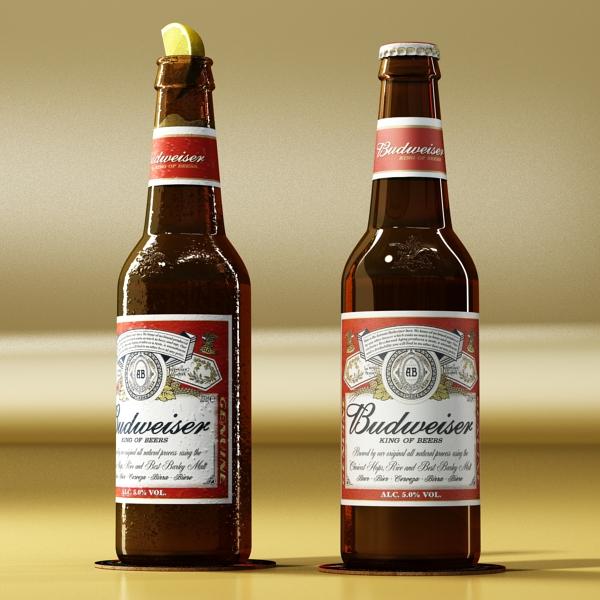 budweiser beer bottle – six cardboard pack 3d model 3ds max fbx obj 142147