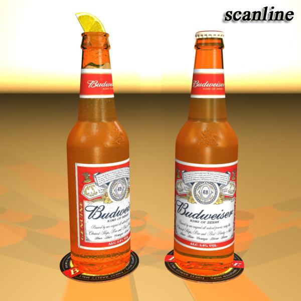 budweiser beer bottle – six cardboard pack 3d model 3ds max fbx obj 142149