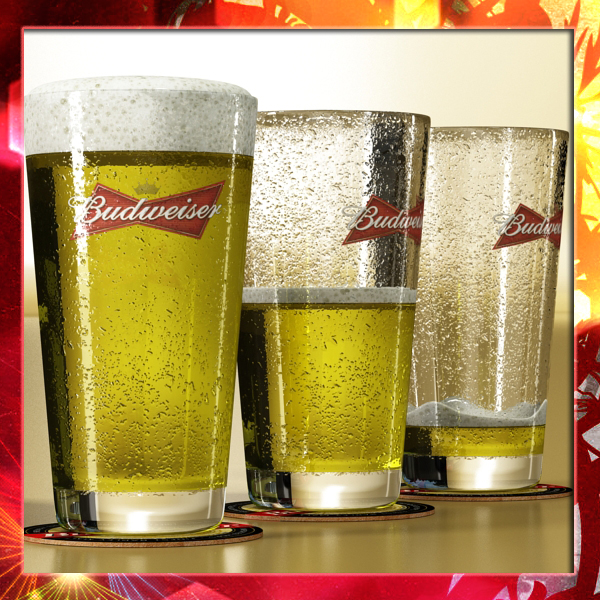 budweiser beer glass 3d model 3ds max fbx obj 142077