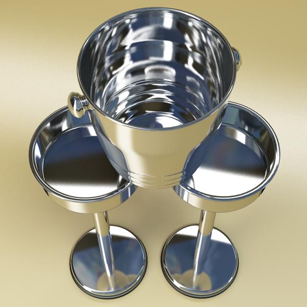 champagne set 3 – bottle, flute and ice bucket 3d model 3ds max fbx obj 144560