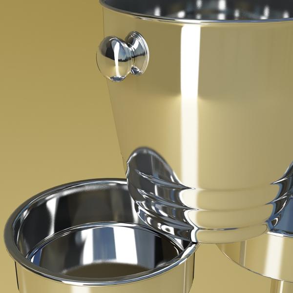 champagne set 3 – bottle, flute and ice bucket 3d model 3ds max fbx obj 144561