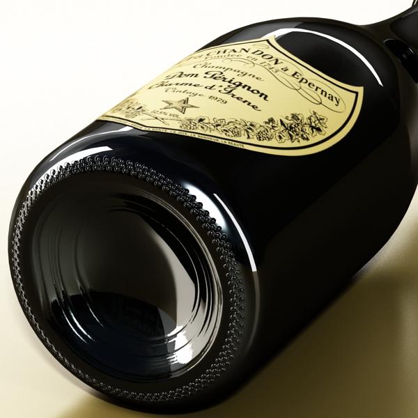 champagne set 3 – bottle, flute and ice bucket 3d model 3ds max fbx obj 144571