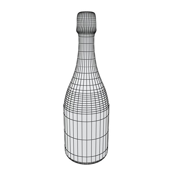 champagne set 3 – bottle, flute and ice bucket 3d model 3ds max fbx obj 144576