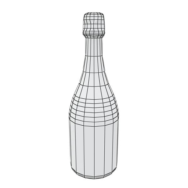champagne set 3 – bottle, flute and ice bucket 3d model 3ds max fbx obj 144577