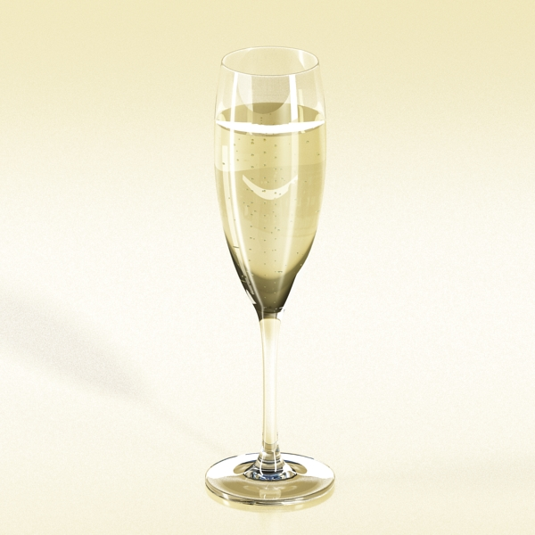 champagne set 3 – bottle, flute and ice bucket 3d model 3ds max fbx obj 144580