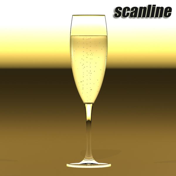 champagne set 3 – bottle, flute and ice bucket 3d model 3ds max fbx obj 144585