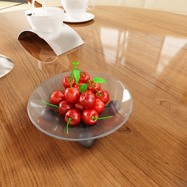 cherries in glass bowl high res 3d model 3ds max fbx obj 133397