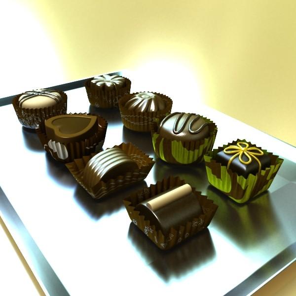 šokolādes konfektes sortiments augstas res 3d modelis max obj 132445