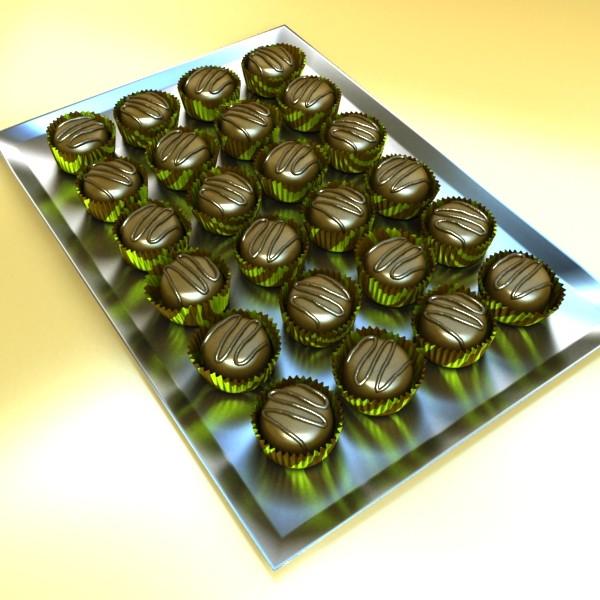 šokolādes konfektes sortiments augstas res 3d modelis max obj 132446