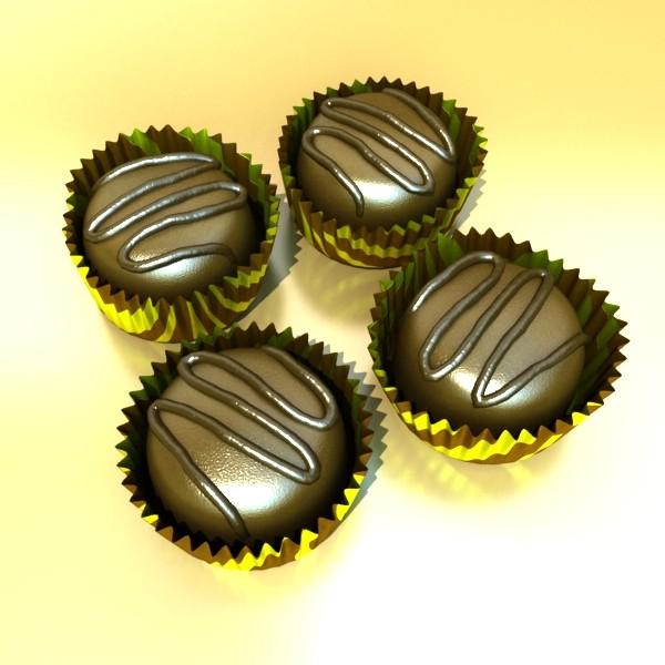 šokolādes konfektes sortiments augstas res 3d modelis max obj 132448