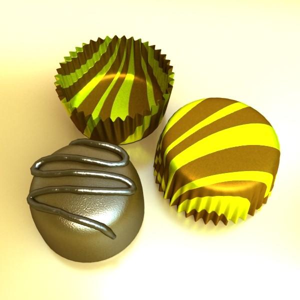 šokolādes konfektes sortiments augstas res 3d modelis max obj 132449