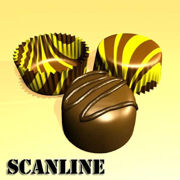 šokolādes konfektes sortiments augstas res 3d modelis max obj 132450