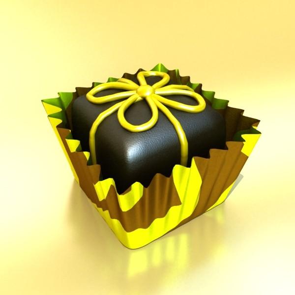 šokolādes konfektes sortiments augstas res 3d modelis max obj 132452