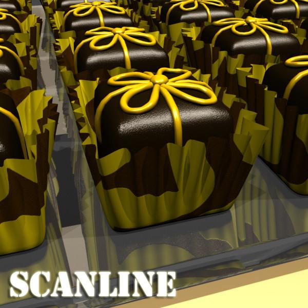 šokolādes konfektes sortiments augstas res 3d modelis max obj 132455
