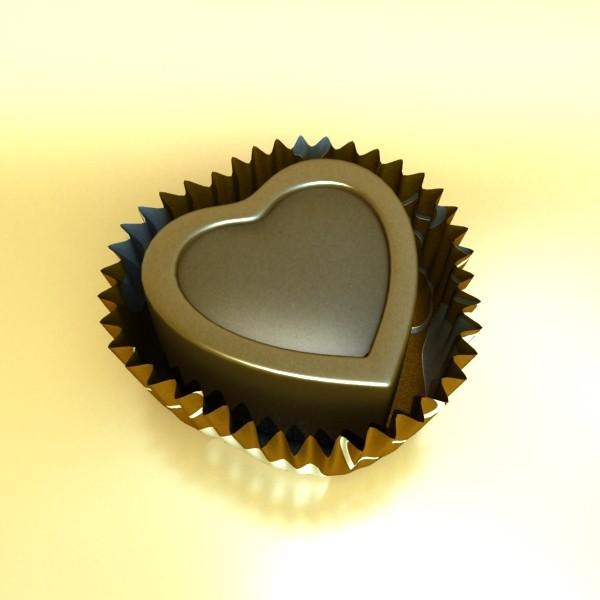 šokolādes konfektes sortiments augstas res 3d modelis max obj 132459
